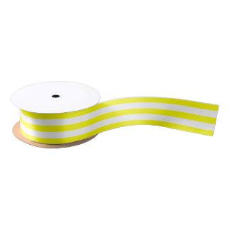 Stripe Pattern Yellow Satin Ribbon