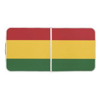 Stripe Rasta Colors Design Pong Table