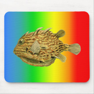 Striped cowfish mouse pad