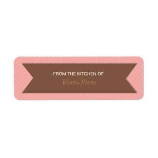 """Striped """"From the Kitchen of"""" Custom Labels"""