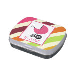 Striped Girl Baby Shower Jelly Belly™ Tin Jelly Belly Tins