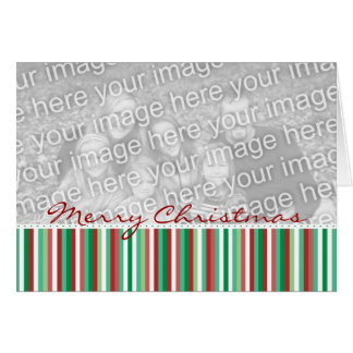 Striped Merry Christmas Card