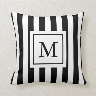 Striped Monogrammed Pillow