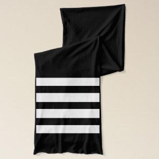 Striped Monogrammed Scarf