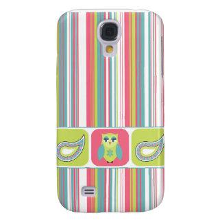 Striped Paisley Owl Galaxy S4 Case