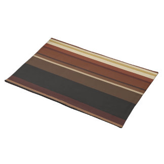 Striped placemat in browns and black