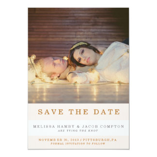 Striped Save the Date Announcement