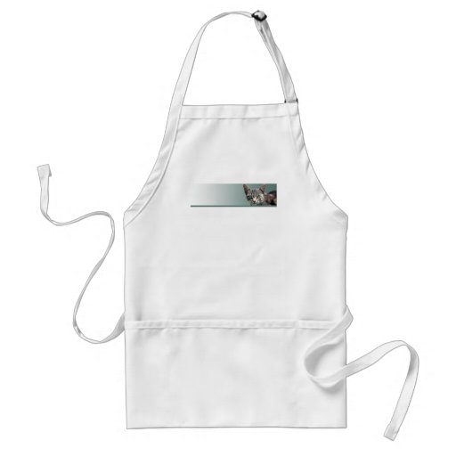 Striped Tabby with Green Eyes Apron