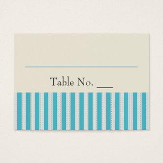 Striped wedding place card