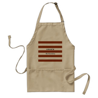 STRIPES adjustable Brown with Name Standard Apron