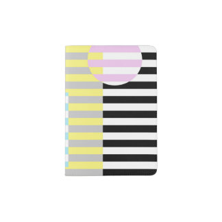 stripes and colours passport holder