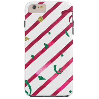 Stripes and Confetti Tough iPhone 6 Plus Case