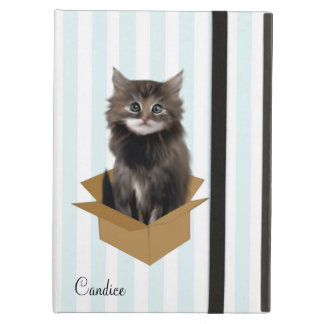 Stripes and Kitten Custom iPad Air Case
