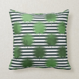 Stripes and leaves pillow