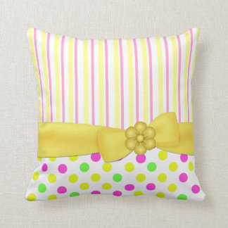 Stripes and Polka Dots Pretty Pillow