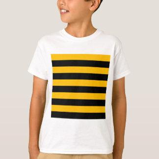 Stripes - Black and Amber T-Shirt