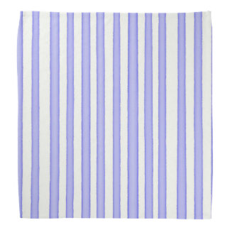 Stripes blue on white bandana