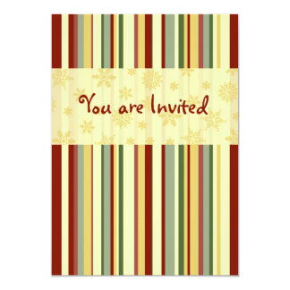 Stripes Christmas Dinner Invitation Card
