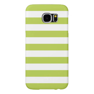 Stripes Galaxy S6 Case in Tender Shoots Green Samsung Galaxy S6 Cases