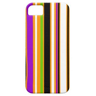 Stripes orange purple green black white barely there iPhone 5 case