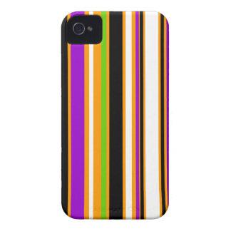 Stripes orange purple green black white Case-Mate iPhone 4 case