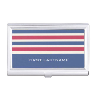 Stripes Pattern custom business card holder