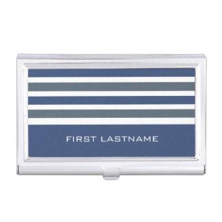 Stripes Pattern custom business card holder