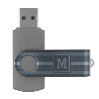 Stripes Pattern custom monogram USB memory sticks