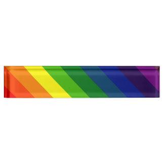 STRIPES - RAINBOW TILE 45.jpg Name Plate