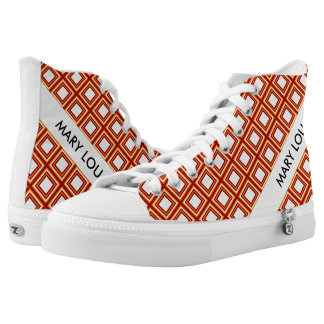 Stripes Square Frame colored 06 + your idea Printed Shoes