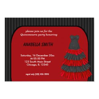 Stripes Sweet Quinceanera 13 Cm X 18 Cm Invitation Card