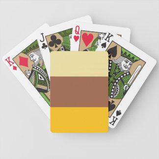 Stripes Tan Orange Brown Card Decks