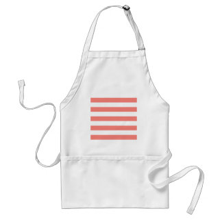 Stripes - White and Coral Pink Apron