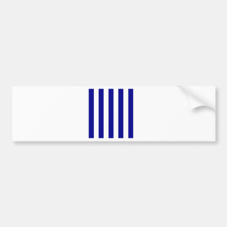 Stripes - White and Dark Blue Bumper Stickers