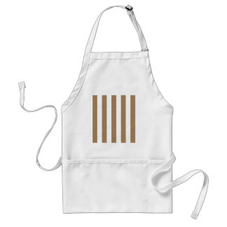 Stripes - White and Pale Brown Apron