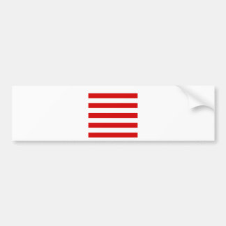 Stripes - White and Rosso Corsa Bumper Stickers