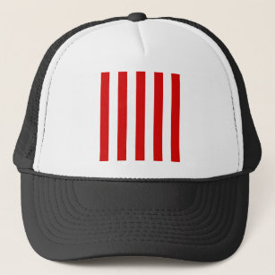 Stripes - White and Rosso Corsa Trucker Hat 975b303a786d