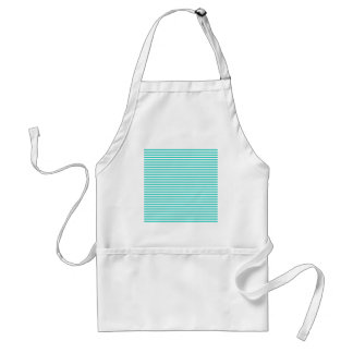 Stripes - White and Turquoise Apron