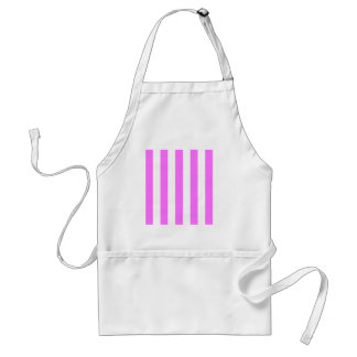 Stripes - White and Ultra Pink Apron