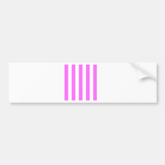 Stripes - White and Ultra Pink Bumper Sticker