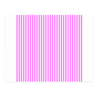 Stripes - White and Ultra Pink Postcard