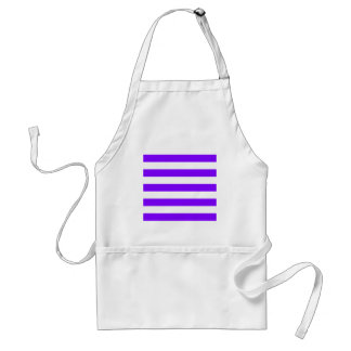 Stripes - White and Violet Standard Apron