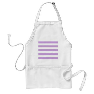 Stripes - White and Wisteria Aprons