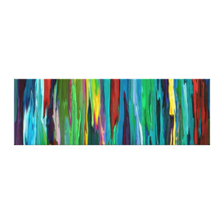 Stripesa ~ Wrapped Canvas Abstract Cool Modern Art
