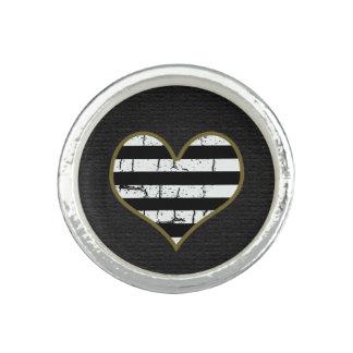 stripy heart ring