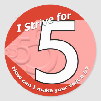 Strive for 5 Stickers