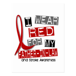 Stroke I WEAR RED FOR MY FATHER-IN-LAW 37 Postcard