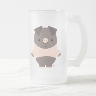 Strong Cartoon Pig frosted mug