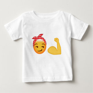 Strong female emoji baby T-Shirt