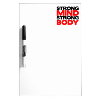 Strong Mind Strong Body Dry Erase Board